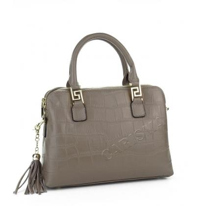 Чанта с три независими отделения, Сива 038V-1
