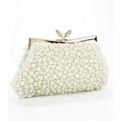 Официална чанта с ръчно шити перли 008V