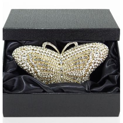 Малка чанта Бижу с кристали Сваровски, Пеперуда, 006V