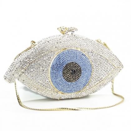 Абитуриентска чанта във формата на око с камъни