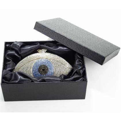 Малка чанта  Бижу с кристали Сваровски, Око, 007V