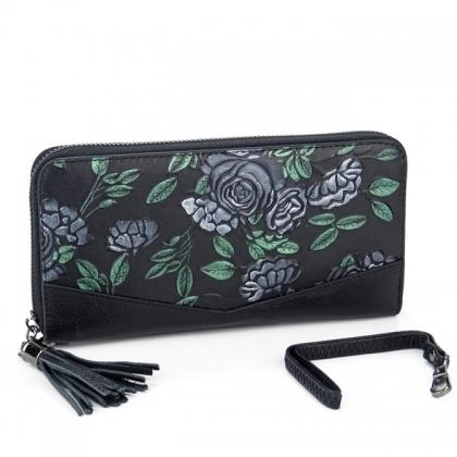 Дамско портмоне с дръжка за ръка