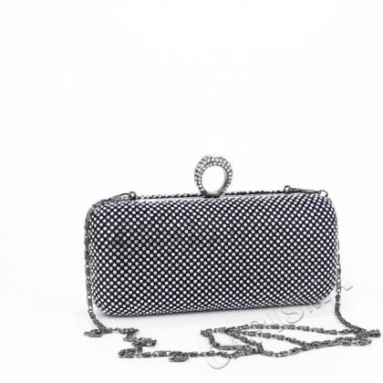 Бална чанта с камъни цирконий