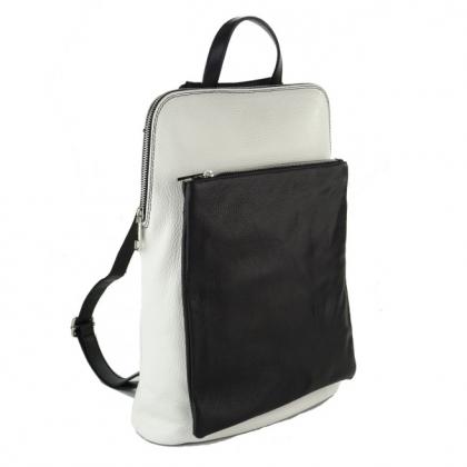 Голяма чанта раница в черно и бяло, 1150-7