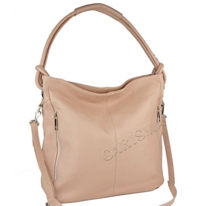 Кожена чанта с къса и дълга дръжка, Пудра