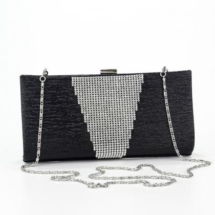 f584e59c8f0 Абитуриентска чанта от еко кожа и камъни в черно 2079MQ