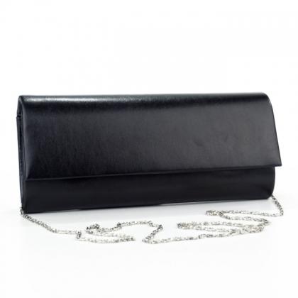 Дамска бална чанта от еко кожа в черно мат 8312