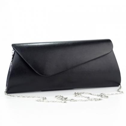 Абитуриентска чанта тип плик в черен мат