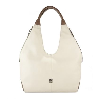 Бежова кожена чанта, 3293G-6
