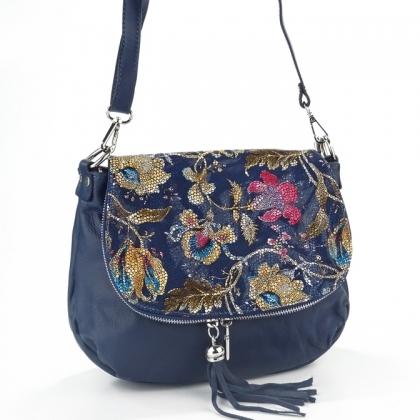 Чанта от естествена кожа на цветя 431