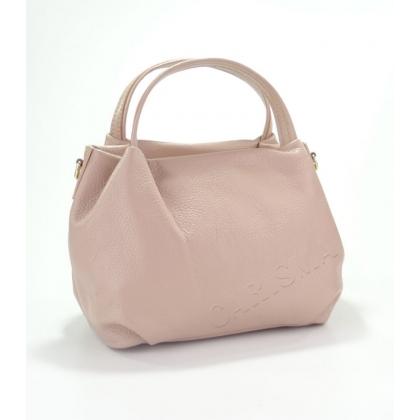 Дамска чанта от естествена кожа в розово 9128-6