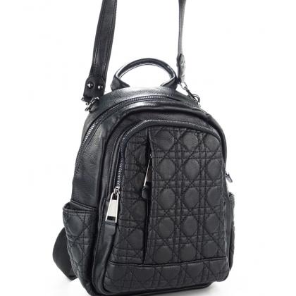 Черна  раница- чанта от естествена кожа, 1577