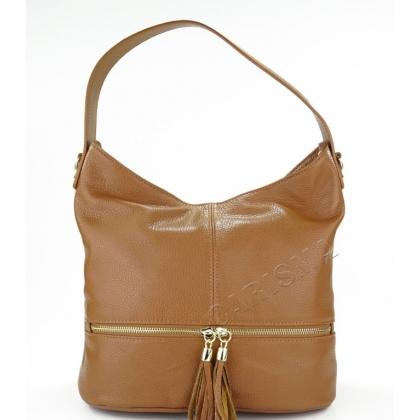 Италианска кожена дамска чанта