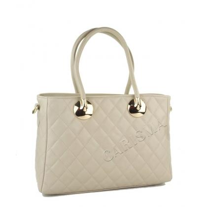Дамска чанта от естествена кожа, капитониран дизайн 4572IT-5