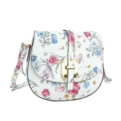Кожена чанта за през рамо на цветя 1028-3