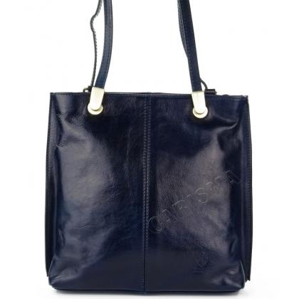 Дамска чанта тип раница от естествена кожа