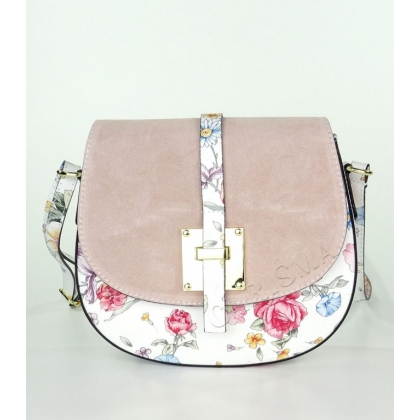 Дамска чанта от естествена кожа с капак