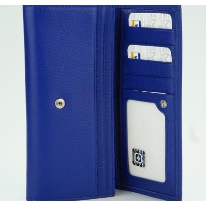Дамско синьо портмоне