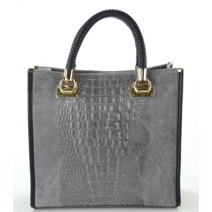 Сива чанта тип куфарче