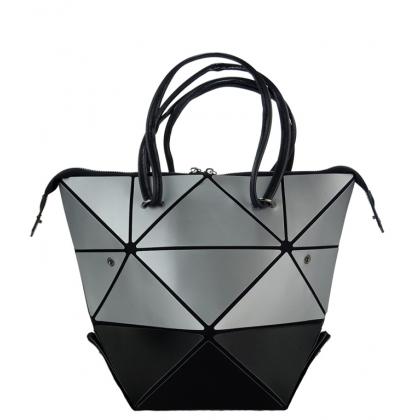Геометрична чанта, Сива и Черна, 63Y
