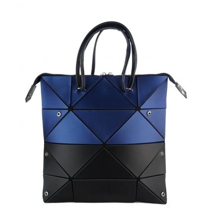 Тъмносиня чанта геометрична, 63Y-3