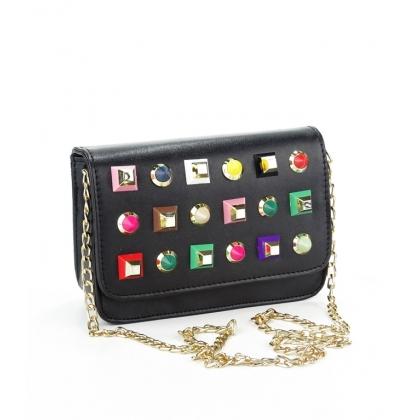 Черна малка чанта за рамо, C712-2