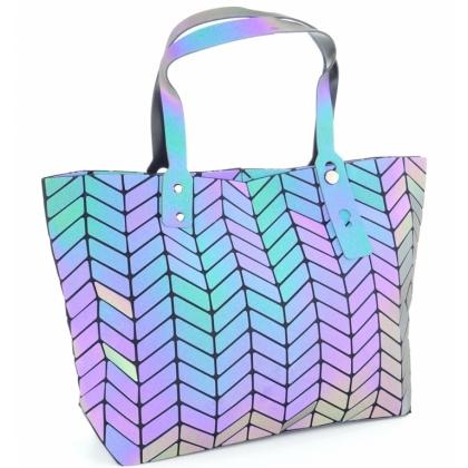 Луминисцентна геометрична чанта тип торба, 54K
