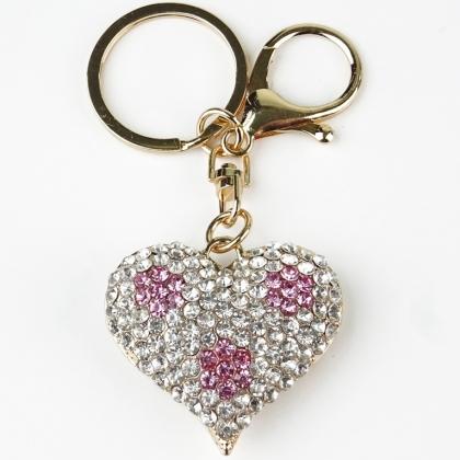 Аксесоар за чанта/ ключодържател Сърце, 0101-8