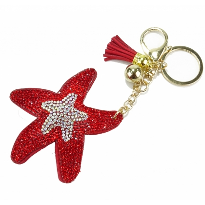 Луксозен ключодържател червена звезда, 0101-9