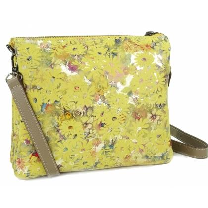 Жълта дамска чанта за рамо, 718