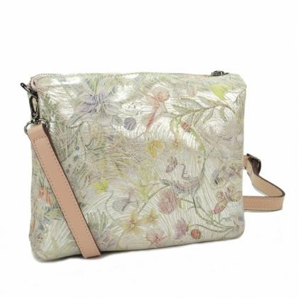 Розова кожена чанта с дълга дръжка, 719