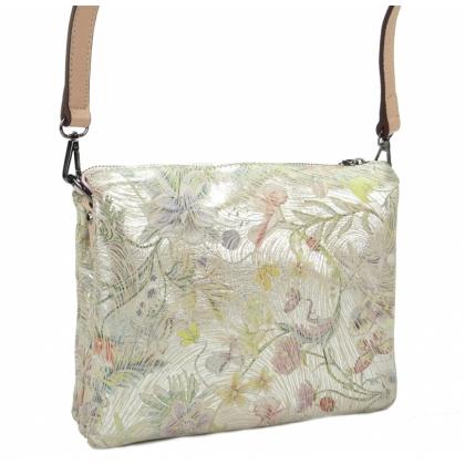 Розова кожена чанта
