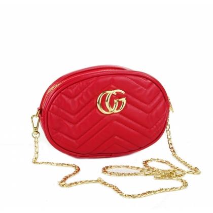 Червена чанта през рамо