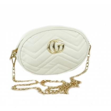 Бяла чанта през рамо