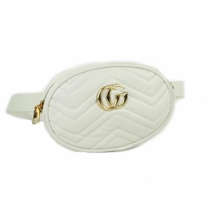 Бяла чанта за кръст