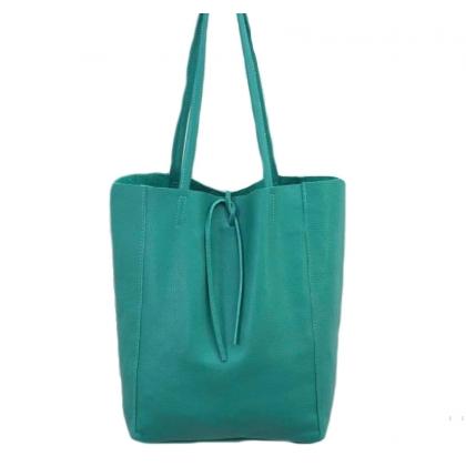 Чанта тип торба, Естествена кожа,1666-10
