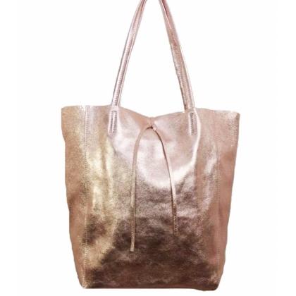 Чанта тип торба, Розово злато, 1666-12