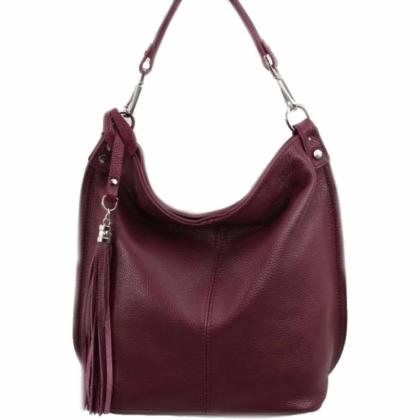 Чанта в цвят бордо, 1192-2