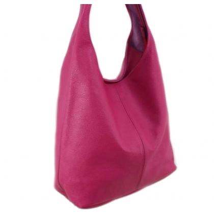 Дамска кожена чанта, Фуксия, 1394-5