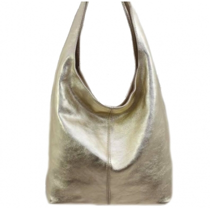 Златна кожена торба