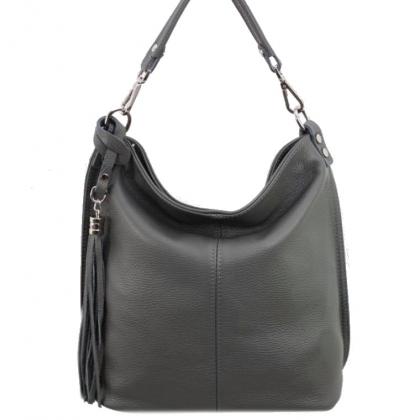Сива дамска чанта тип торба, 1192-3