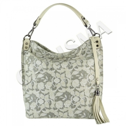 Дамска чанта тип торба, Бежова, 6321-4