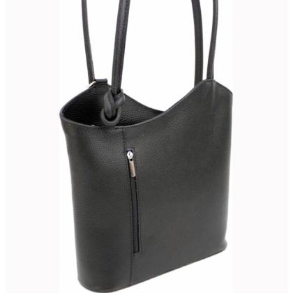 Дамска раница чанта, 2 в 1, Черна, 100118V