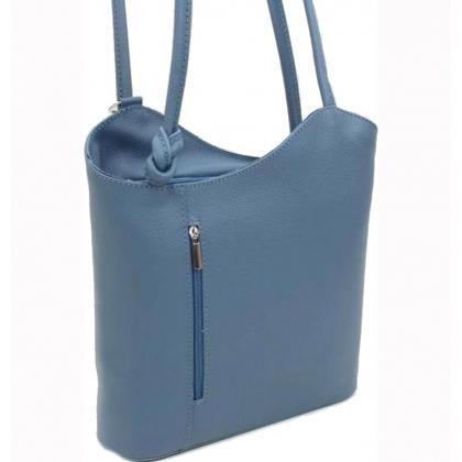 Дамска раница чанта, 2 в 1, Синя, 100118V - 1