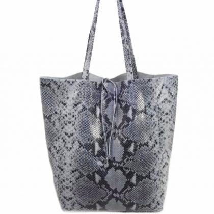 Чанта тип торба с змийски принт, 1666-13