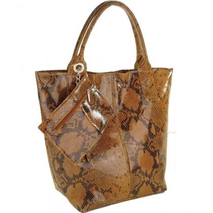 Чанта тип торба, Змийска шарка 4576IT