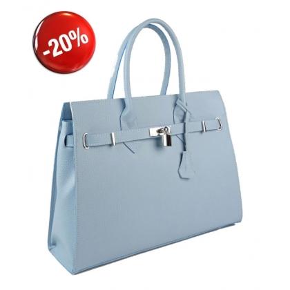 Елегантна дамска чанта, Светлосиня, 3521-5