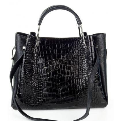 Чанта от естествена шагрен кожа