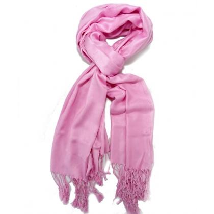 Розов дамски шал,