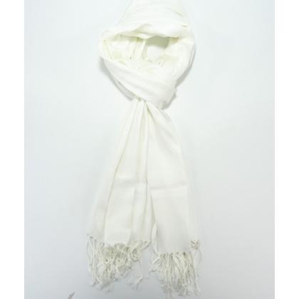 Бял зимен шал, Пашмина, 009-4